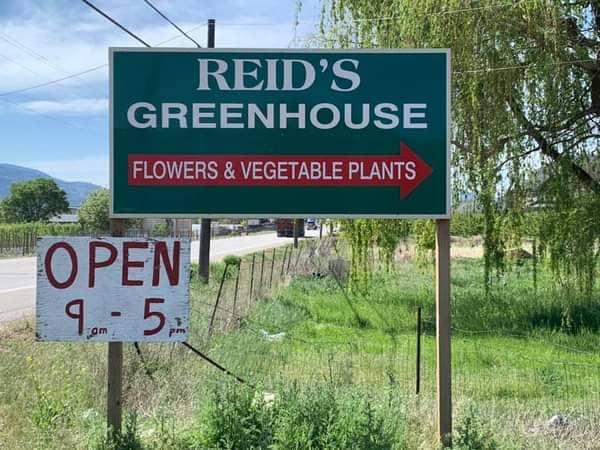 Reids Greenhouse Oliver BC